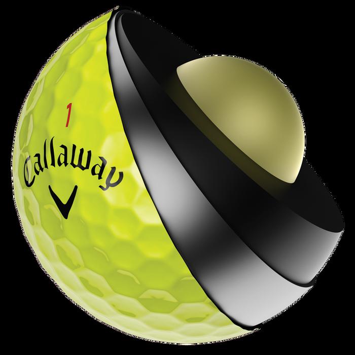Pelota de Golf Chrome Soft X amarillo