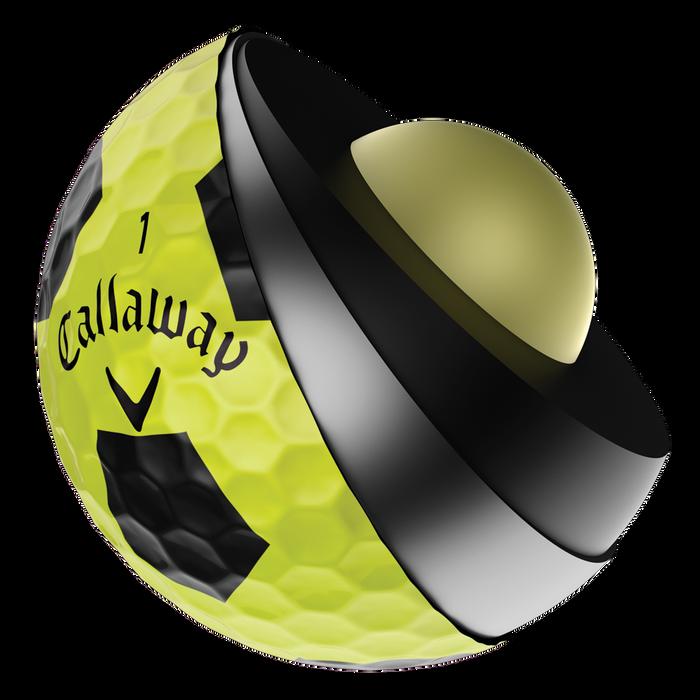 Pelota de Golf Chrome Soft X Truvis amarillo y negro