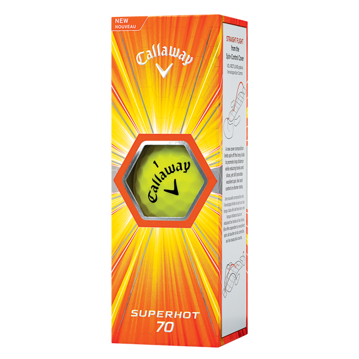 Pelota de golf Superhot 70 amarillo (paquete de 15 unidades)