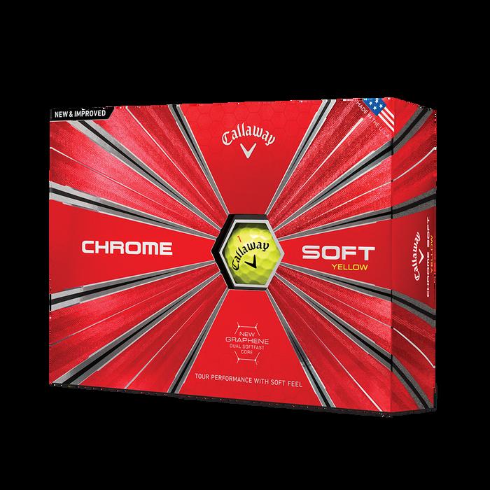 Pelota de golf Chrome Soft Amarillo