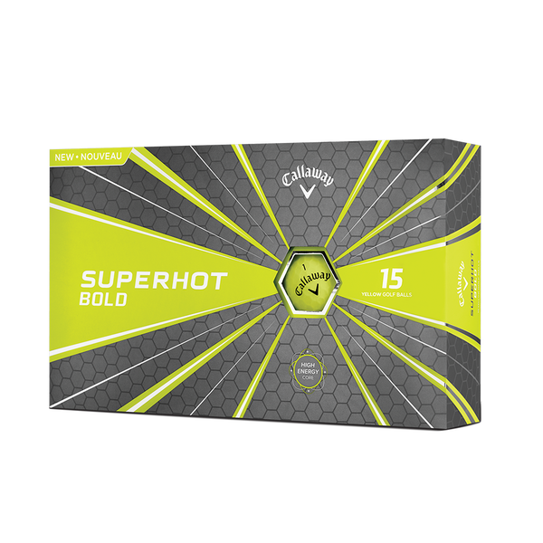 Pelota de golf Superhot Bold Mate Amarillo 15-Pack Technology Item