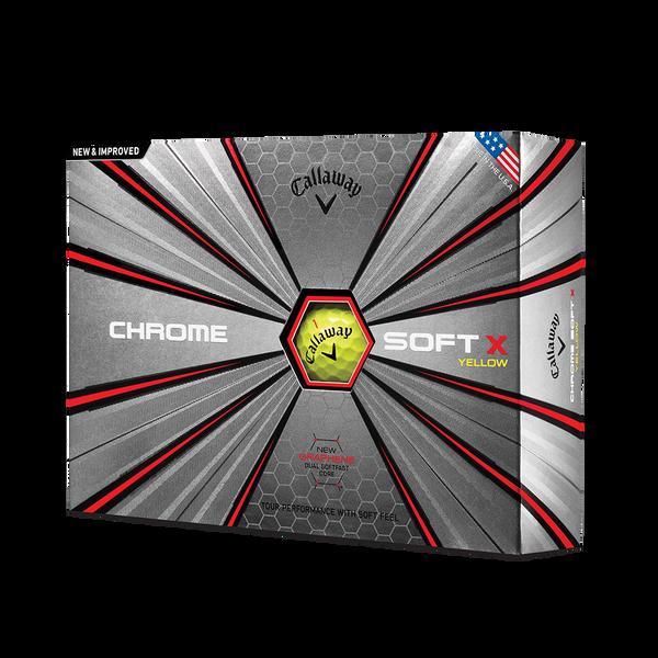Pelota de golf Chrome Soft X Amarillo Technology Item