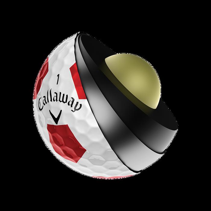 Pelota de golf Chrome Soft X Truvis Rojo