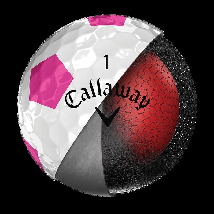 Pelota de Golf Chrome Soft Truvis Rosa