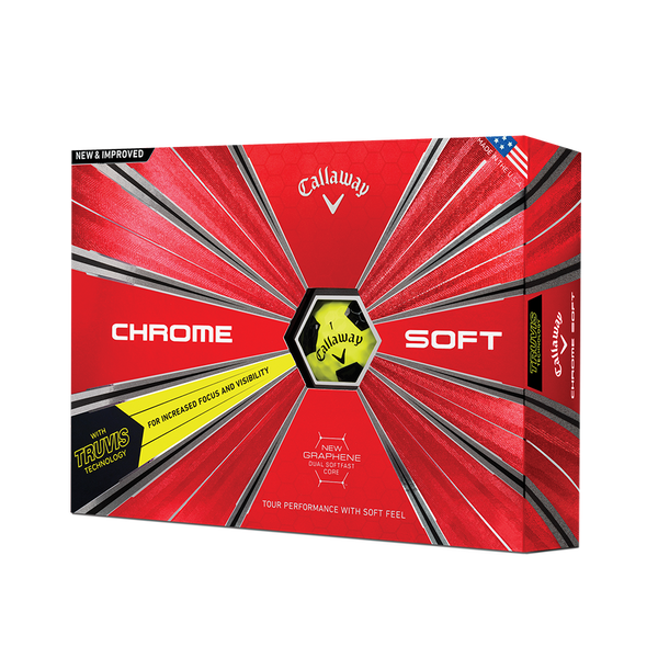 Pelota de golf Chrome Soft Truvis Amarillo Technology Item