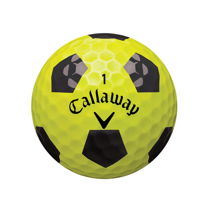 Pelota de golf Chrome Soft X Truvis Amarillo