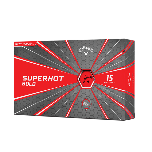 Pelota de golf Superhot Bold Mate Rojo 15-Pack Technology Item