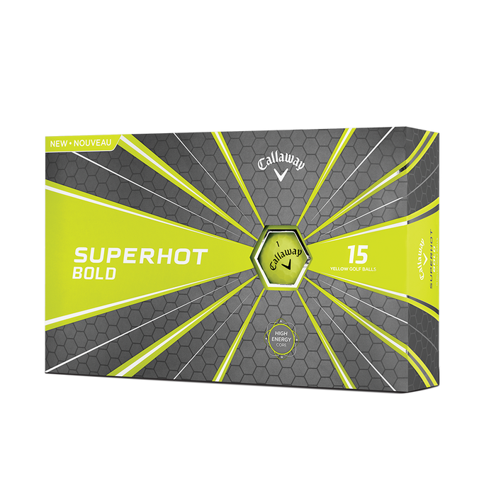 Pelota de golf Superhot Bold Mate Amarillo 15-Pack