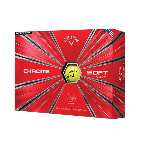 Pelota de golf Chrome Soft Amarillo Technology Item