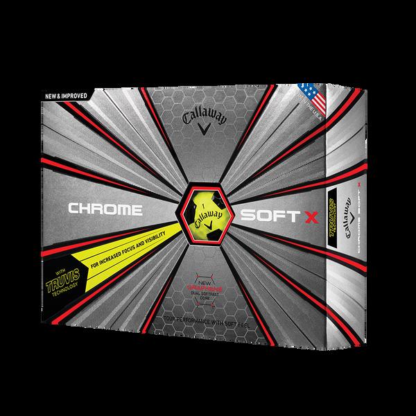 Pelota de golf Chrome Soft X Truvis Amarillo Technology Item