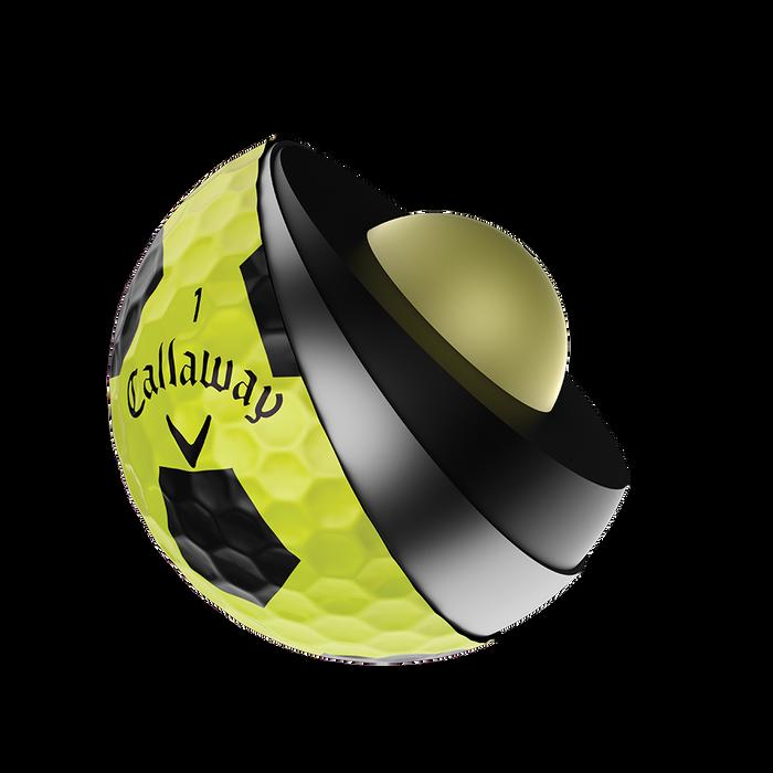 Pelota de golf Chrome Soft X Truvis Amarillo