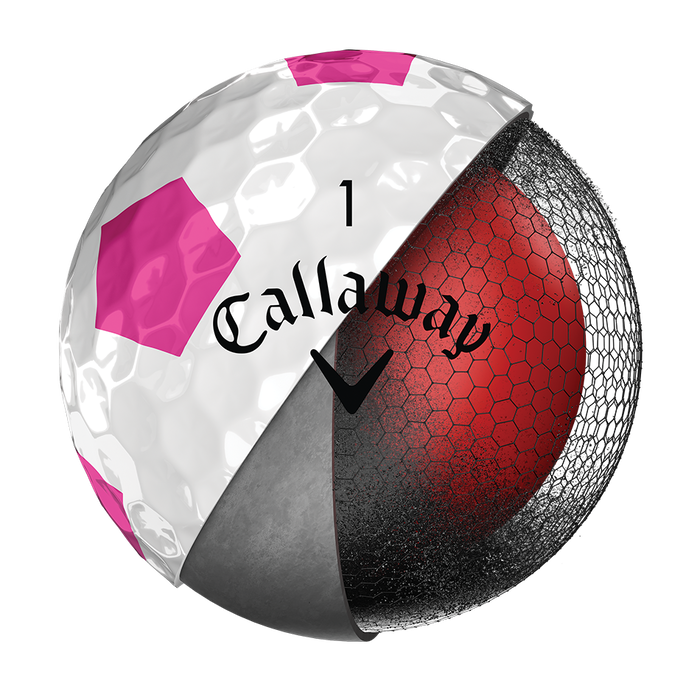 Pelota de Golf Chrome Soft Truvis Rosa