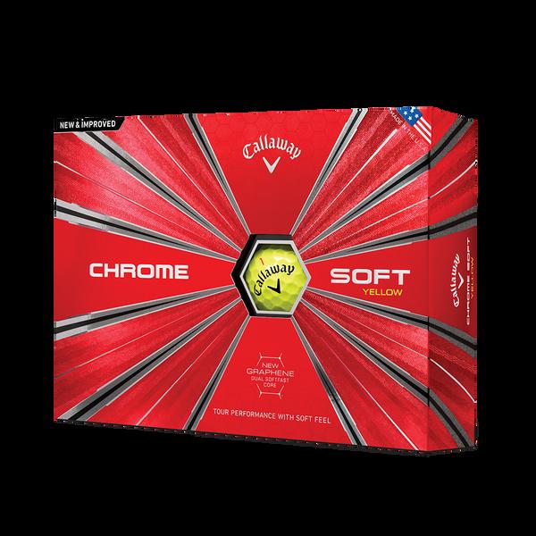 Pelota de golf Chrome Soft Amarillo Technology Item