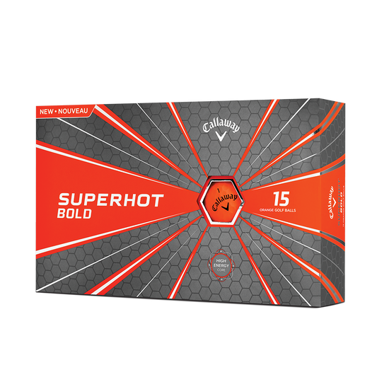 Pelota de golf Superhot Bold Mate Naranja 15-Pack