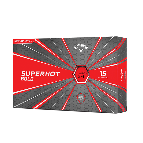 Pelota de golf Superhot Bold Mate Rojo 15-Pack