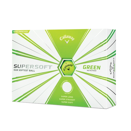 Callaway Supersoft Matte Green Golf Balls