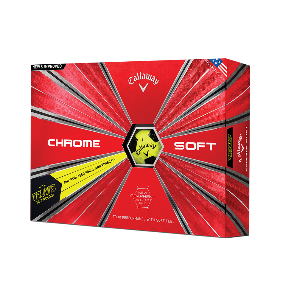 Pelota de golf Chrome Soft Truvis Amarillo