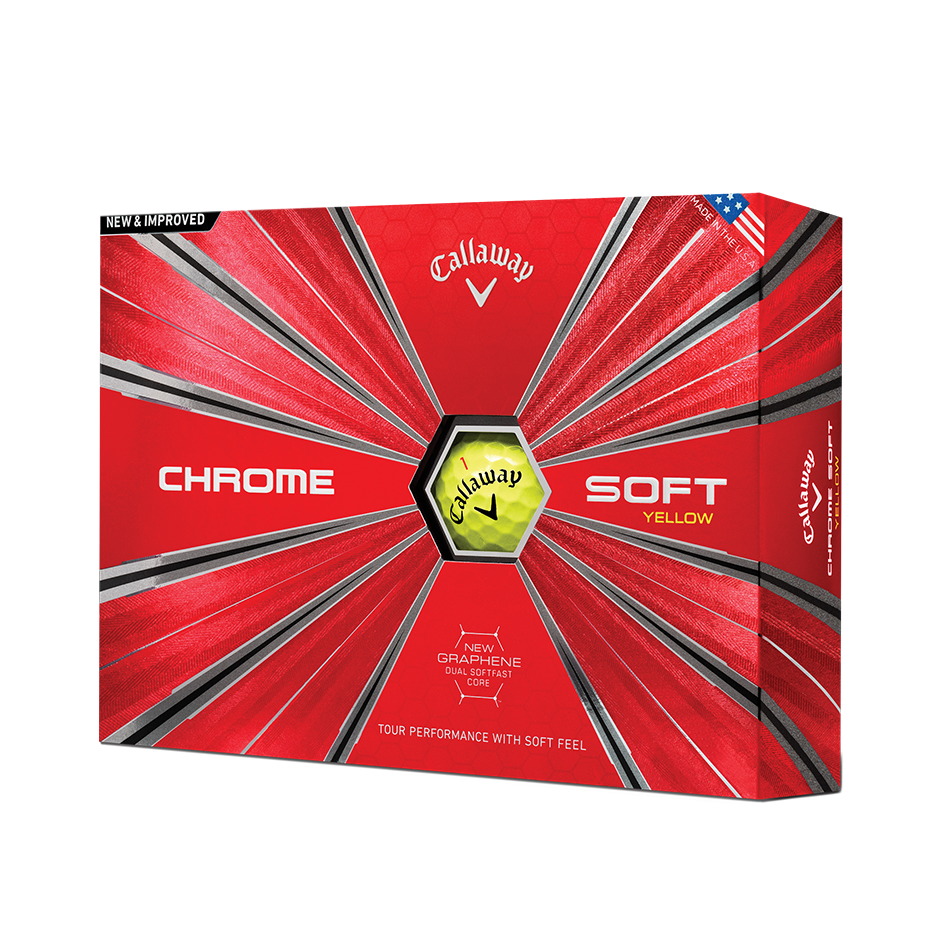 Pelota de golf Chrome Soft Amarillo