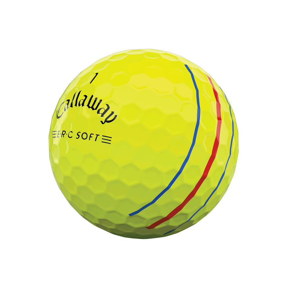 E•R•C Soft Yellow Golf Balls - View 2