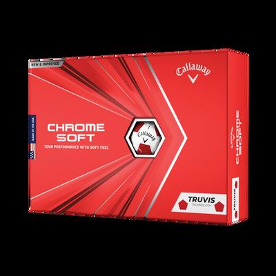 Pelotas de golf Chrome Soft Truvis Red Thumbnail