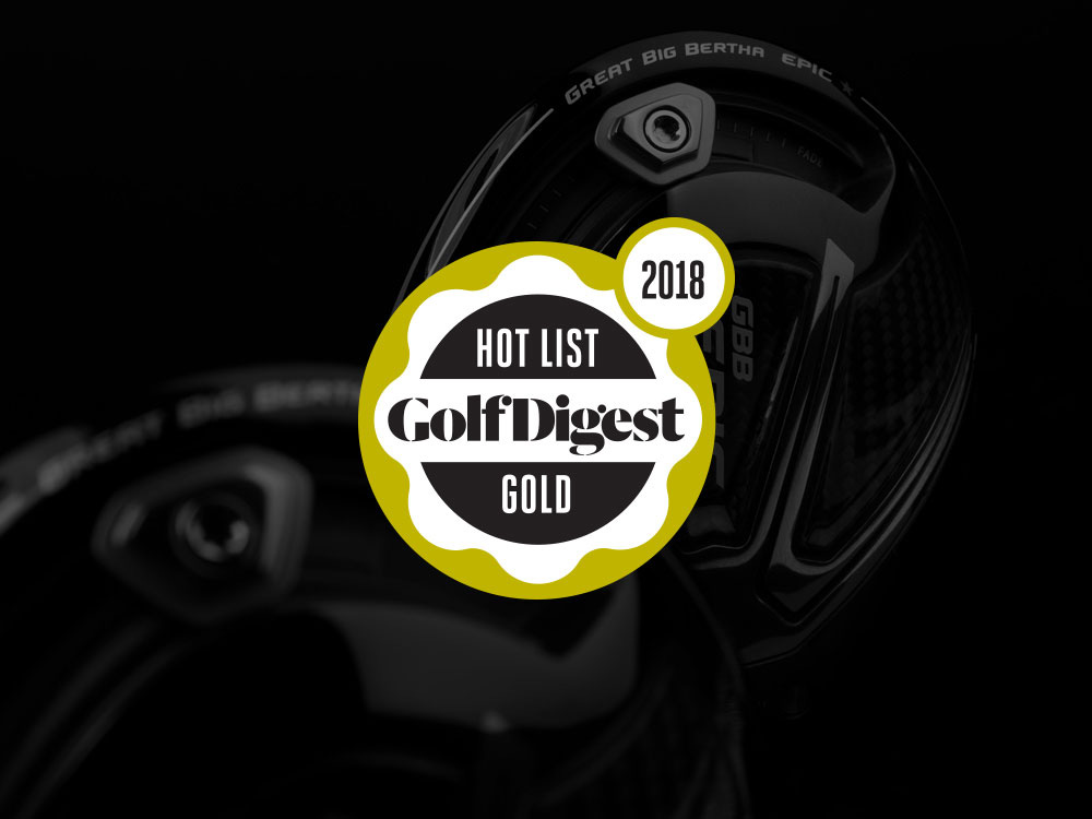 Callaway GBB Epic Star Driver Golf Digest 2018 Hot List Badge