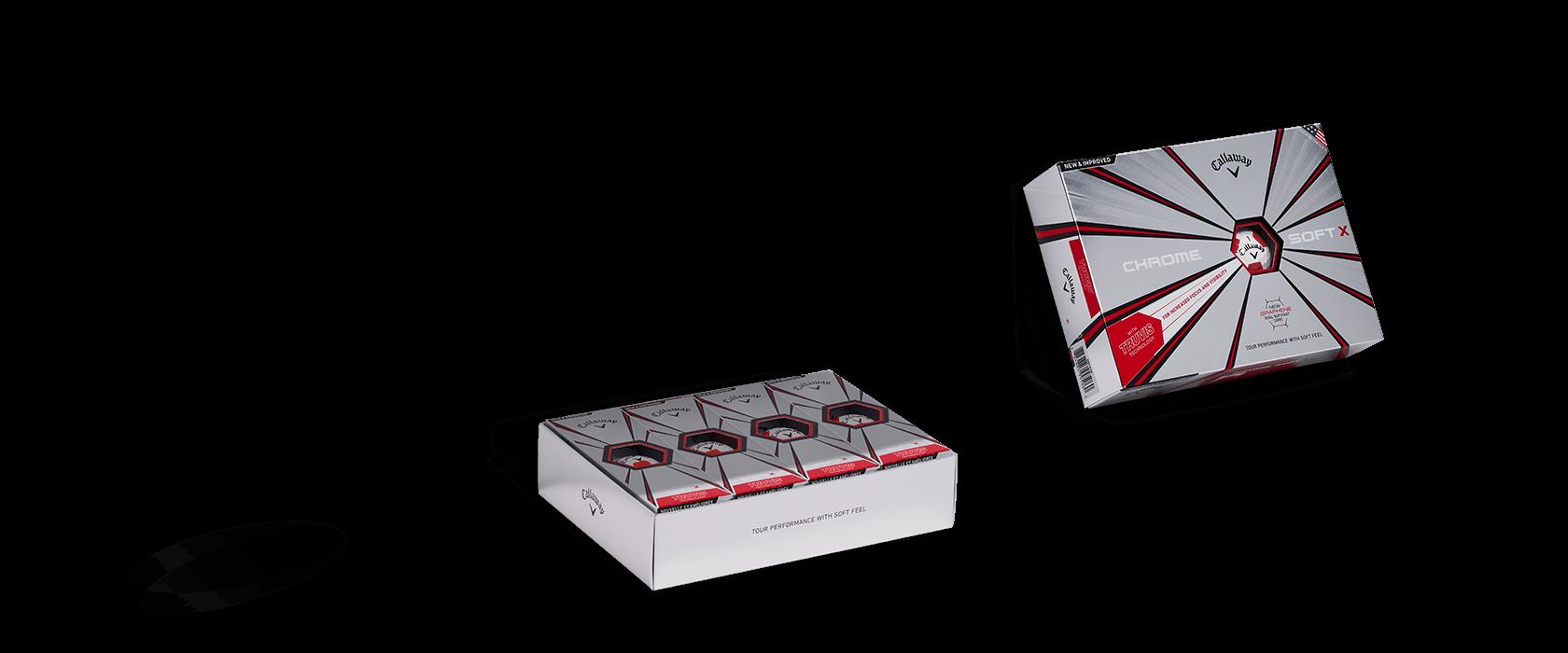 Chrome Soft Truvis Golf Ball Box